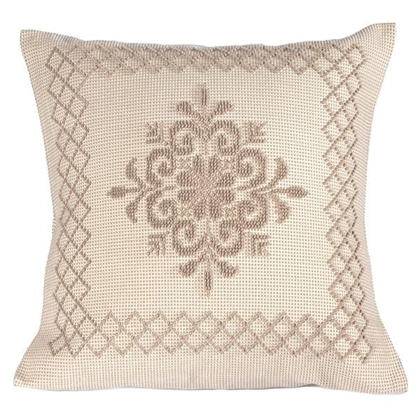 Raffinato copri cuscino tradizionale della Sardegna. Con decorazione a pibiones e disegno Pistoccu. Artigianato sardo, sardinia handmade, home decor.