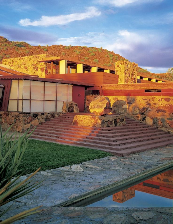 Taliesin West in Scottsdale, one of Frank Lloyd Wright's greatest architectural masterpieces.
