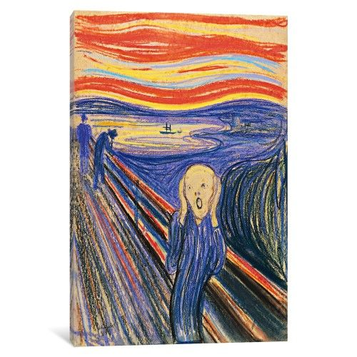 iCanvas The Scream, 1893 Gallery Wrapped Canvas Art Print by Edvard Munch