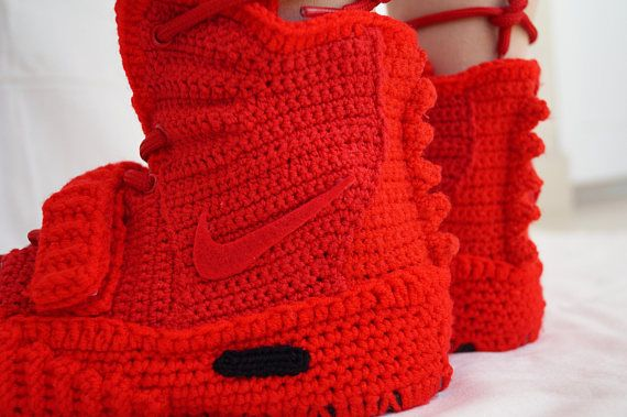 Crochet Nike Air Yeezy 2 Red October Nike Air Yeezy 2 Knitted