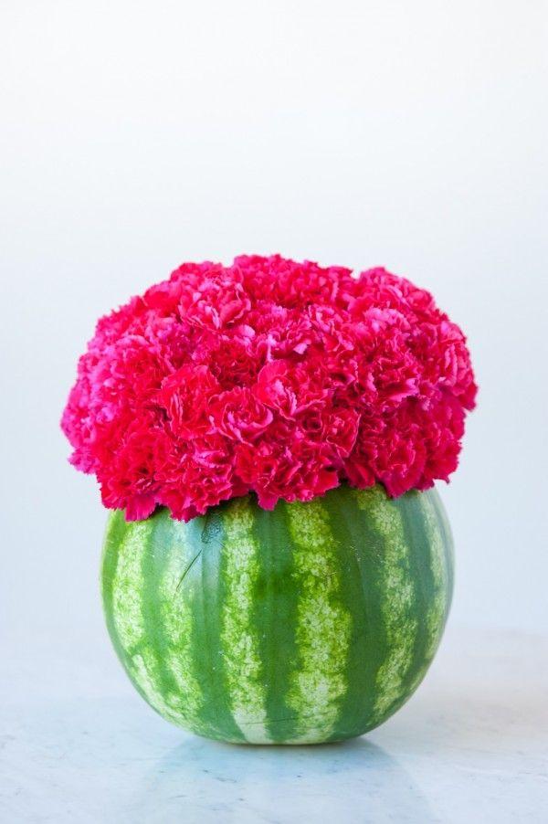 Diy Watermelon Flower Centerpiece Watermelon Centerpiece