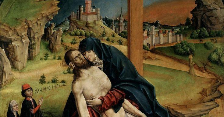 La Piedad. 1465. Fernando Gallego Técnica mista sobre tabla. Medidas: 118cm x 111cm. Museo del Prado. Madrid. España El santo ...