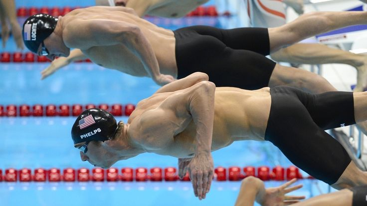 """Swimmers Michael Phelps and Ryan Lochte deploy their muscles to win medals for the United States at the 2012 London Olympic Games.    """"The Science Behind Olympic Six-Pack Abs"""" - NPR"""