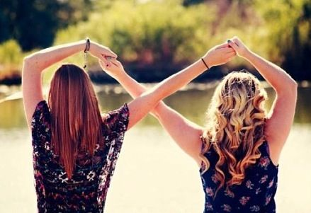 Infinity. Such a cute picture idea!