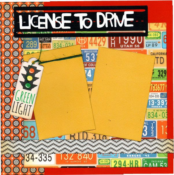 License to Drive - NEW DRIVER!  2 page Scrapbooking Layout Kit - by CropALatteToGo on Etsy