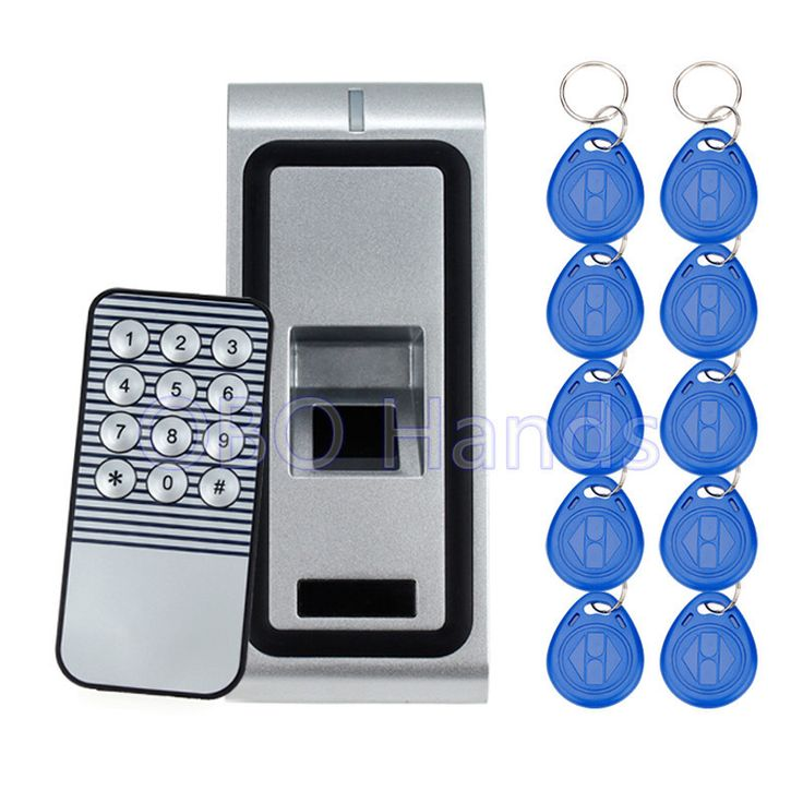 metal fingerprint lock machine with rfid access control electronic door lock for security