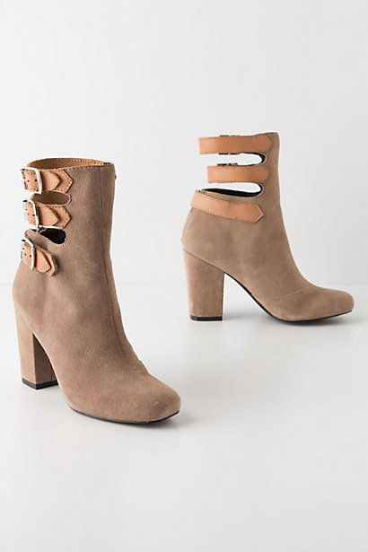 Buckled Mid-Boots #anthropologie. I think these are a must-buy!