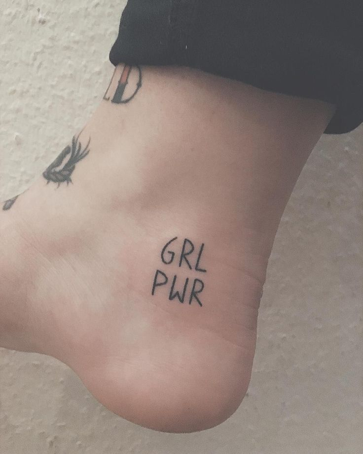 Handpoked, Tiny Tattoo for That 'Grl Pwr'