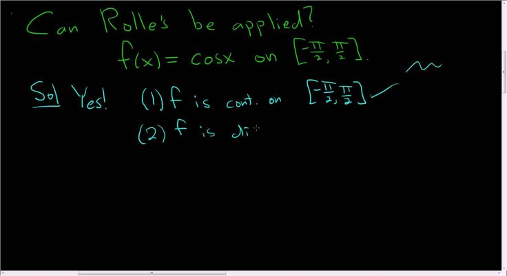 Can Rolle's Theorem be Applied to f(x) = cos(x) on [-pi/2, pi/2]?