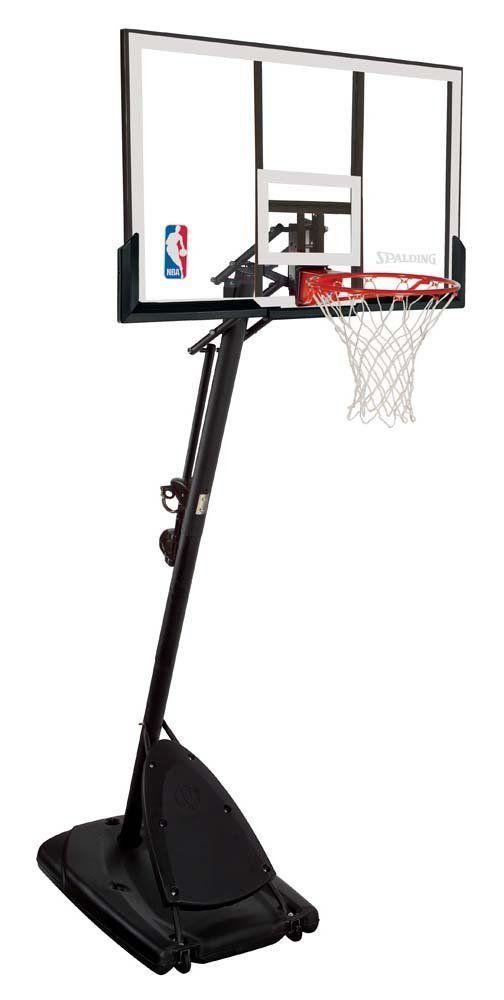 Backboard Systems 21196: Basketball Backboard Hoop System Spalding Nba 54 Inch Angled Pole Adjustable BUY IT NOW ONLY: $264.74