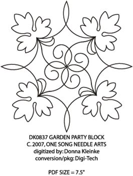 Garden Party Block #5 by One Song Needle Arts DK0837