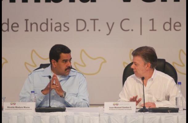 Comisiones y acuerdos deja el encuentro de Maduro y Santos