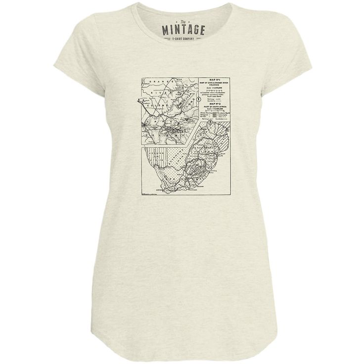 Africa Map Horn Of Africa%0A Mintage Old South African Map Womens Capped Sleeve TShirt
