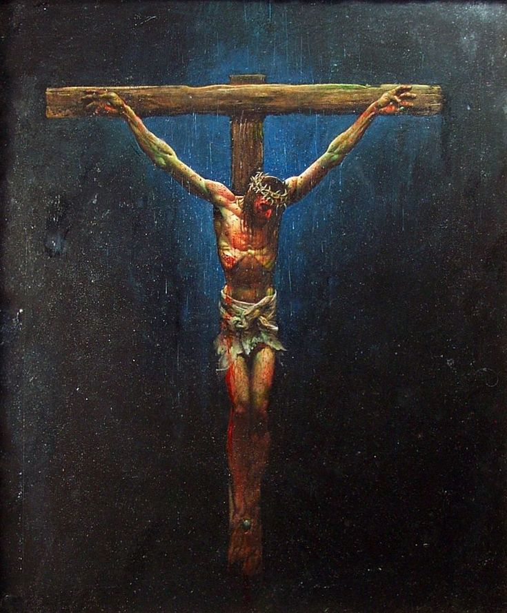 colorful images | Full color painting of Jesus on the cross by Simon Bisley - Simon ...