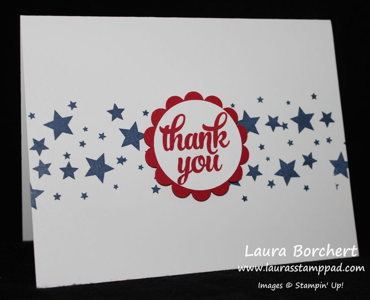 Stars Across America, Veteran's Day, American, Red, White, and Blue, Perpetual Birthday Calendar Stampin' Up Stamp Set, Tin of Cards Stamp Set, Scallop Circle Punch, Circle Punch, www.LaurasStampPad.com
