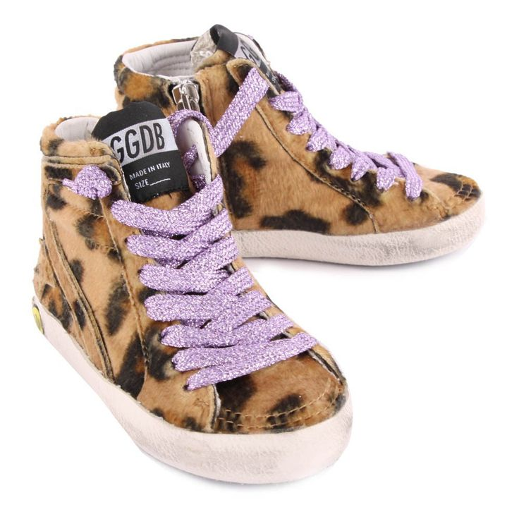 Golden Goose Slide Leopard Print Trainers with Zip-product