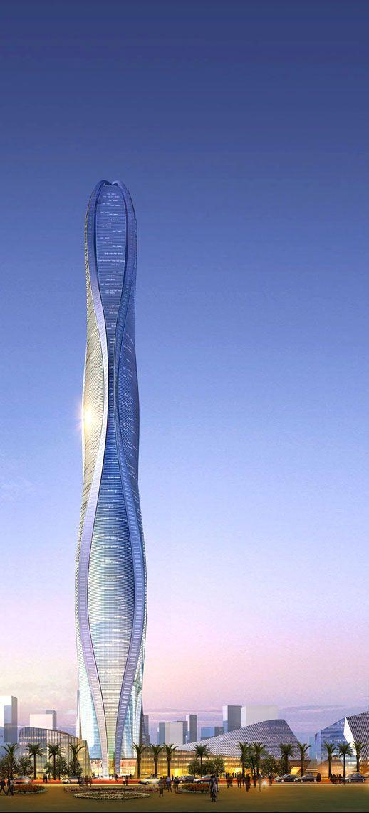 1 Park Avenue, within the Jumeria Gerdens development in Dubai - Adrian Smith + Gordon Gill Architecture