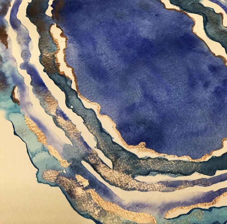 Watercolor painting for custom design invitation