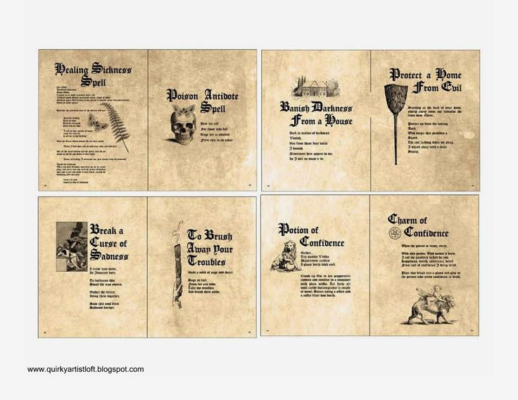 Harry Potter Book Pages ~ Harry potter spell book pages pixshark images