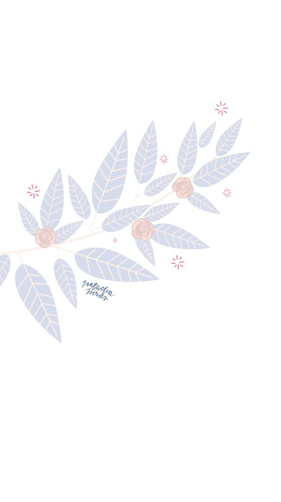 Simple Soft Leaves iPhone Home Wallpaper @PanPins