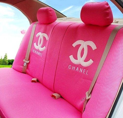 Pink car interior Chanel