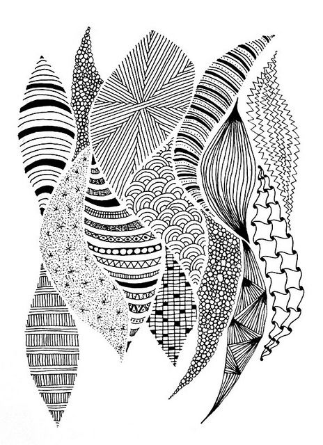 Zentangle inspiration page #129 - Sinuous curves | Flickr - Fotosharing!