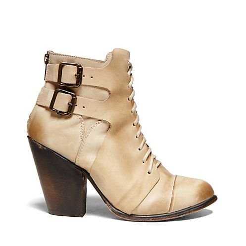 Zip back, lace front booties from Steve Madden's Freebird Collection
