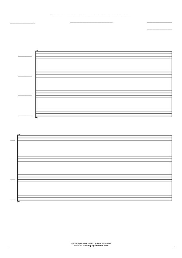 Free Blank Sheet Music sheet music by Jan Walter. Part: Score for 4 voices.