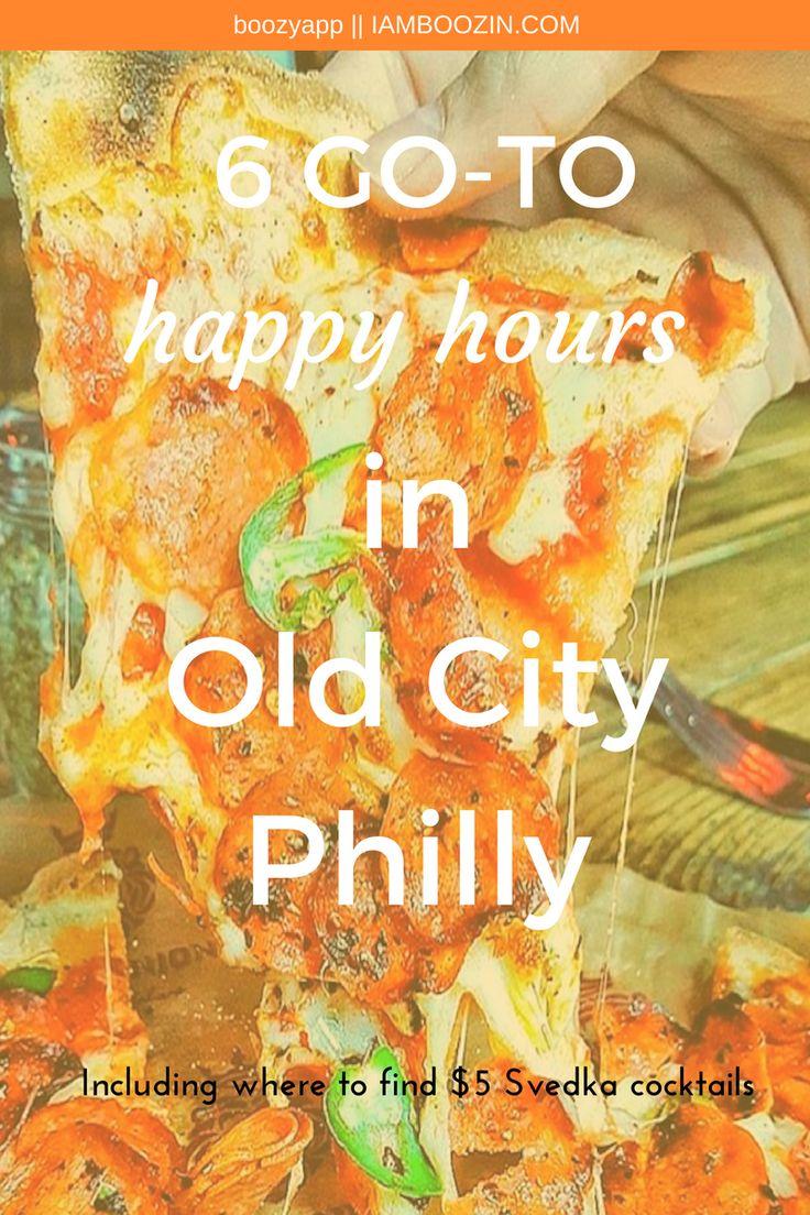 Philadelphia Happy Hour   6 GO TO Happy Hour In Old City Philadelphia including…