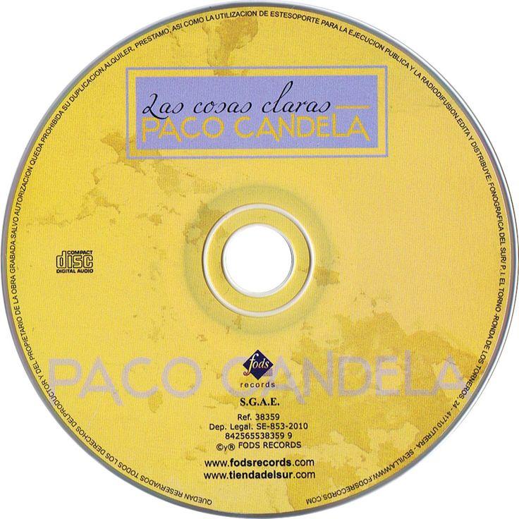 Caratula Cd de Paco Candela - Las Cosas Claras