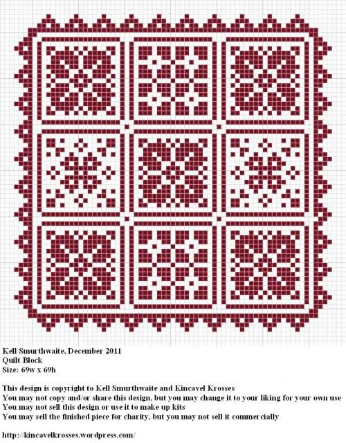 Kinkavel Krosses Quilt Block Cross Stitch Project
