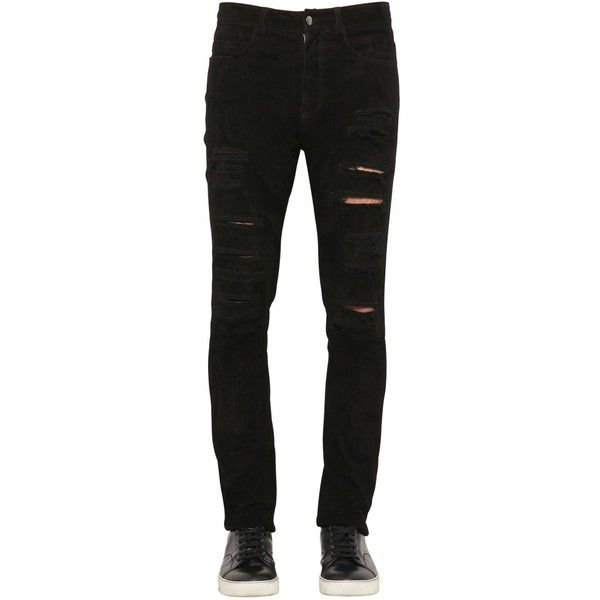 Giorgio Brato Men Cut Out Reversed Nappa Leather Pants (32.395 UYU) ❤ liked on Polyvore featuring men's fashion, men's clothing, men's pants, men's casual pants, black, mens skinny fit dress pants, mens pants and mens skinny pants