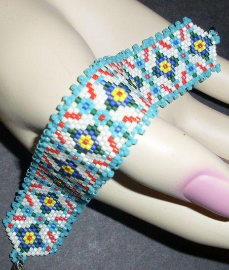 Native American Beaded Bracelet (Southwestern Tile). Via Etsy.