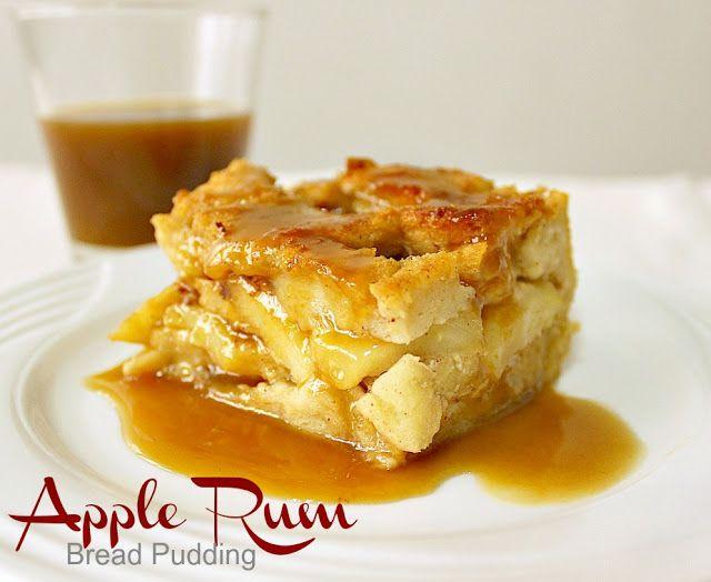 Drunken Apple Bread Pudding - omit Rum add topping from Apple Pancake under Breakfast-Apple Pancake