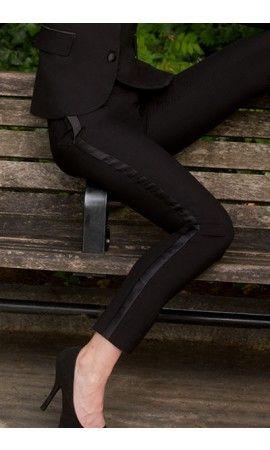 David Tutera Black Tight Leg Women's Tuxedo Pants