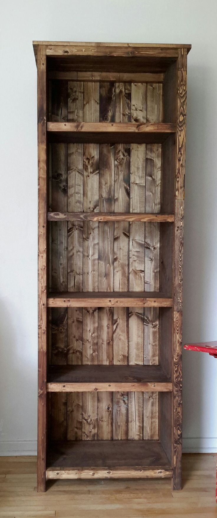 25 best ideas about rustic bookshelf on pinterest for Easy diy shelves