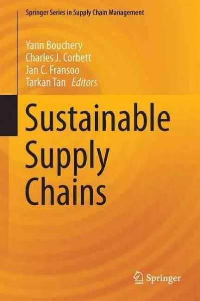 This book is primarily intended to serve as a research-based textbook on sustainable supply chains for graduate programs in Business, Management, Industrial Engineering, and Industrial Ecology, but it