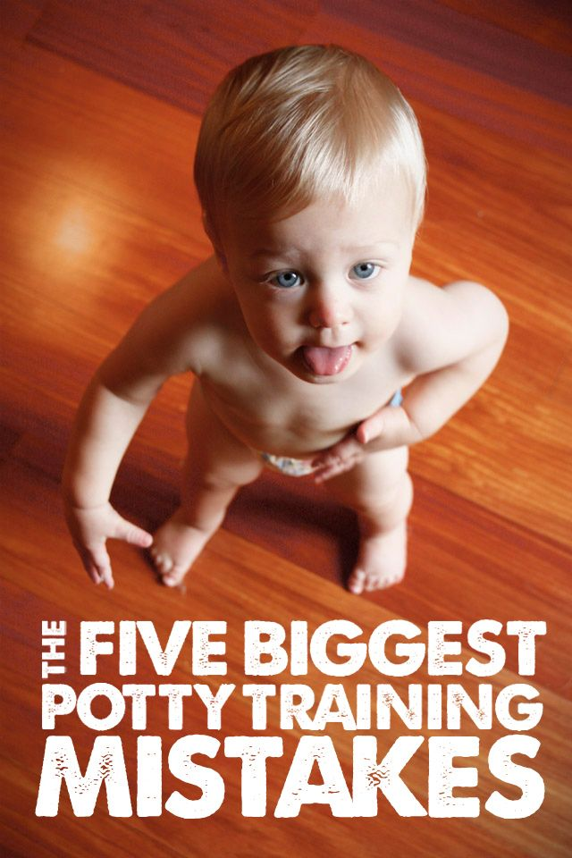 The 5 Biggest Potty Training Mistakes