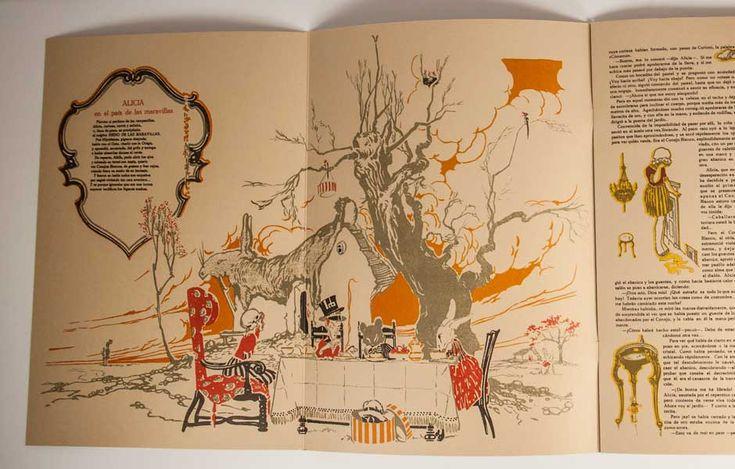 Alicia en el País de las Maravillas. Ilustración de Joaquín Santana Bonilla. Facsímil Ediciones de la Universidad de Castilla-La Mancha.