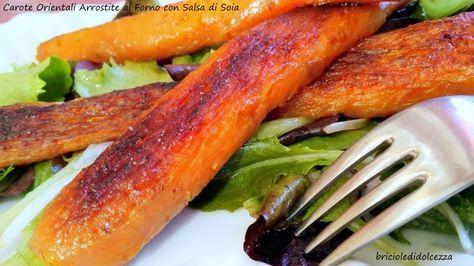 Carote+Orientali+Arrostite+al+Forno+con+Salsa+di+Soia