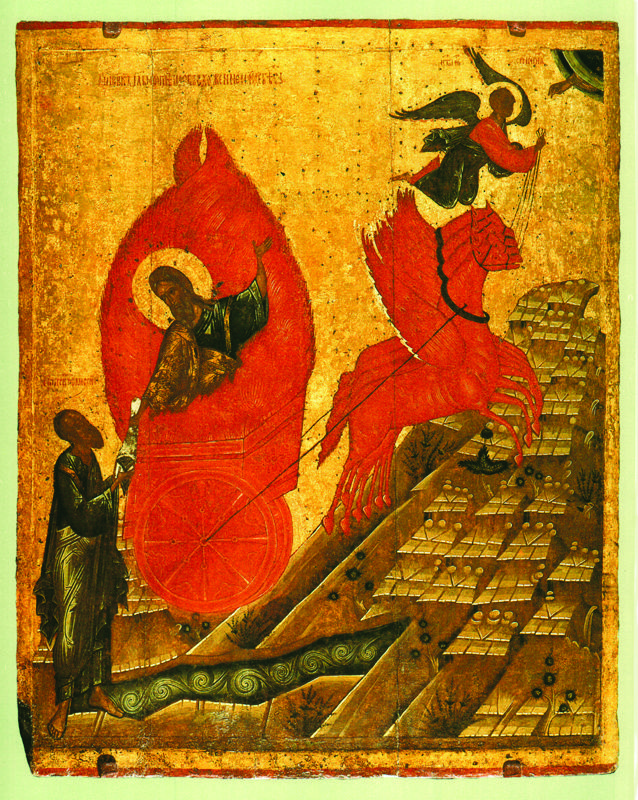 XIV в.  Огненное восхождение  Ильи Пророка