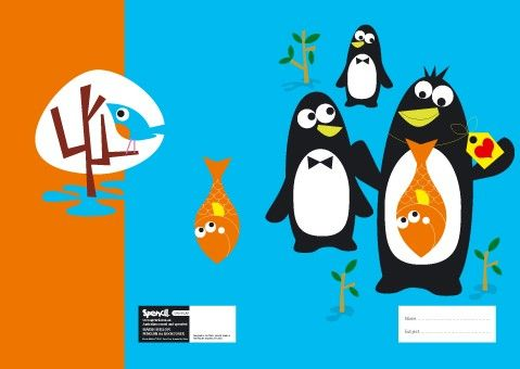 Marsh Mellow A4 Book Covers - Penguin