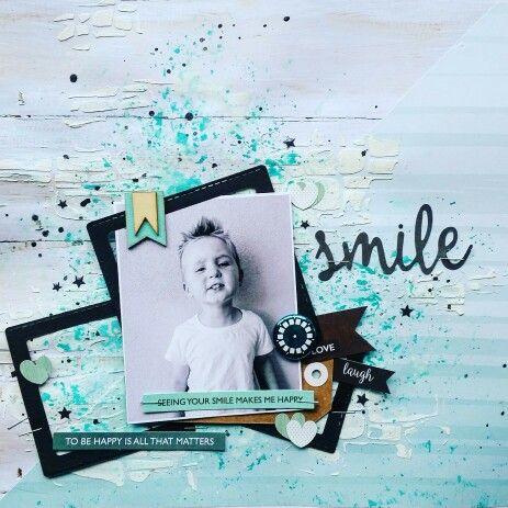 Kaisercraft : Seabreeze Collection : Smile layout by Amanda Baldwin