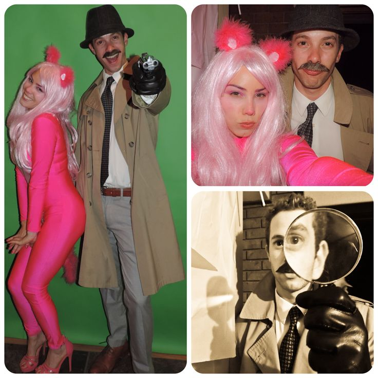 Pink Panther and Inspector Clouseau DIY Couples costume