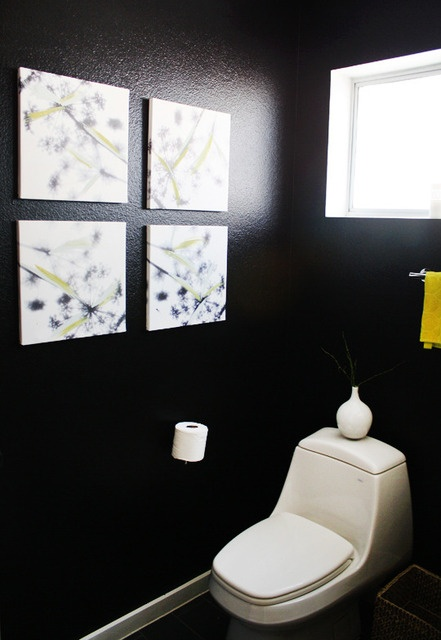 40 Best Powder Room Images On Pinterest  Color Palettes Simple Small Black Bathrooms Inspiration