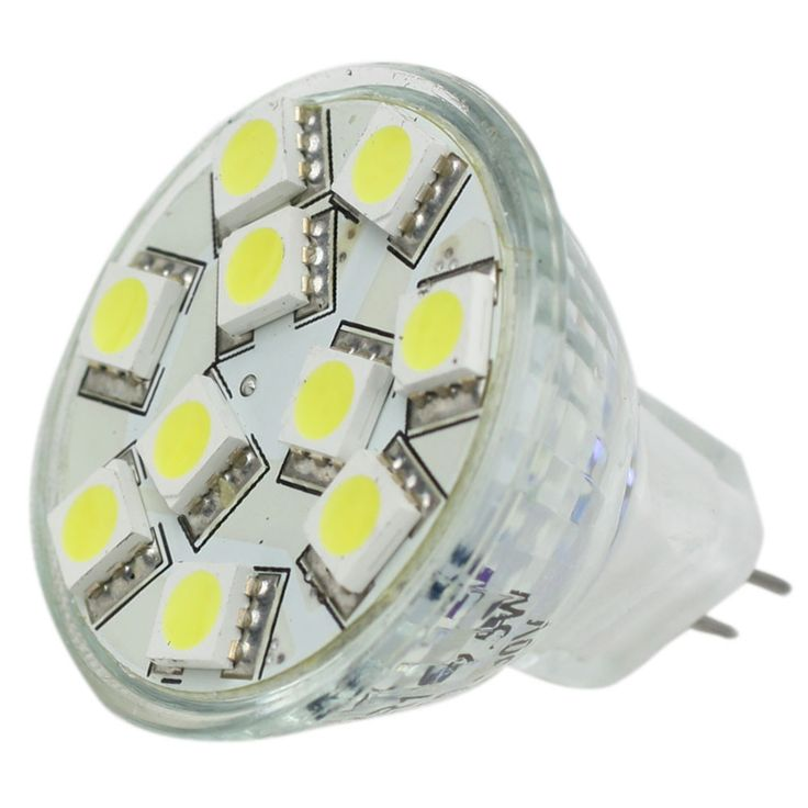 Lunasea MR11 LED Bulb - 10-30VDC/2.2W/140 Lumens - Warm White