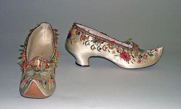 Shoes ~ 1870s ~ Designer: Hellstern and Sons (French) ~ silk ~ Marking: Hellstern & Sons, Brevetes, Paris ~ Metropolitan Museum of Art