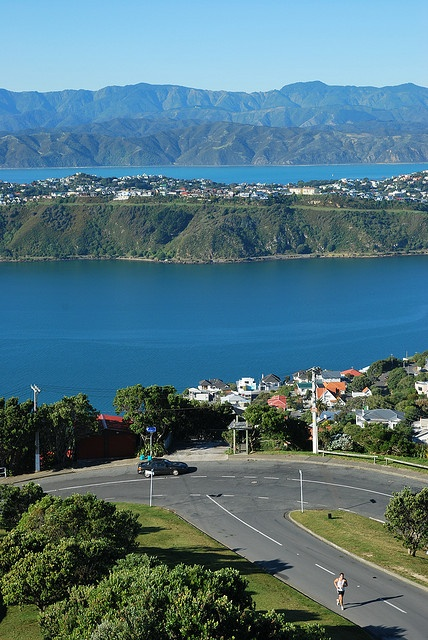 A beautiful view from Mount Victoria Lookout, Wellington, New Zealand.