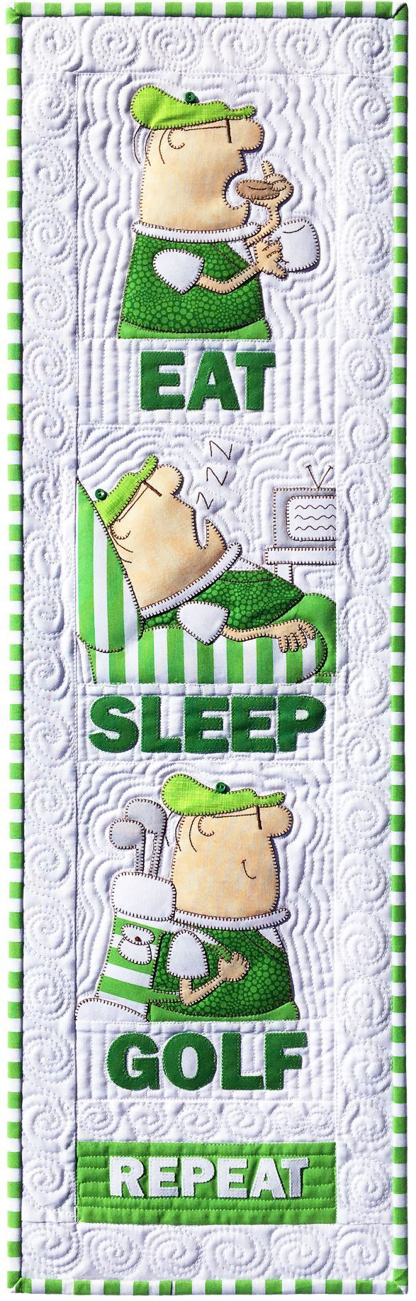 Amy Bradley Designs Eat Sleep Golf quilt pattern
