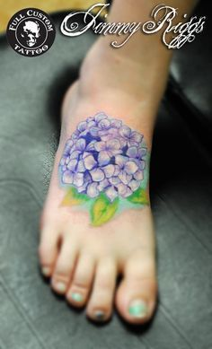 watercolor hydrangea tattoo - Google Search